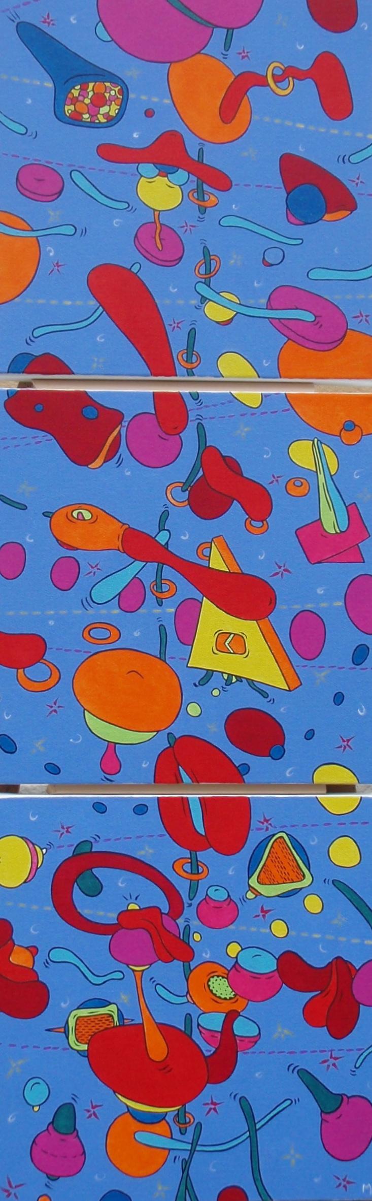 La Joie de Vivre (triptyque, 120x40)