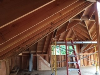 An inside look of what hand cut trusses look like. Pretty amazing!
