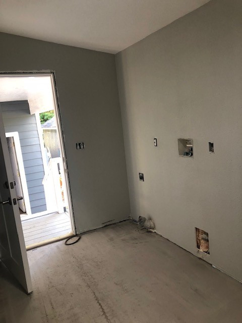 Laundry room mid remodel