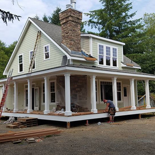Building process of a Naselle custom home