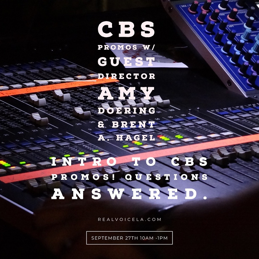 CBS Promos with Guest Director Amy Doering and Brent Allen Hagel