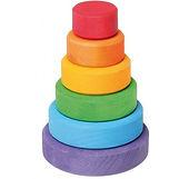 Juguete torre de anillos de madera de colores