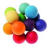 Bolas de madera de colores