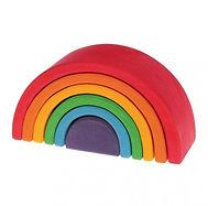 Juguete arcoiris de madera de colores