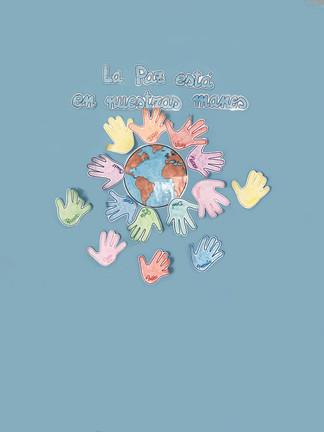 decoración-pared-manos-paz-escuela-infantil-parque-pozuelo