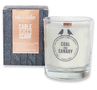 Cable Knit Scarf candle