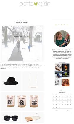 Petite Raisin blog