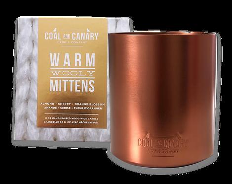 Warm Wooly Mittens Metallic - XL Copper