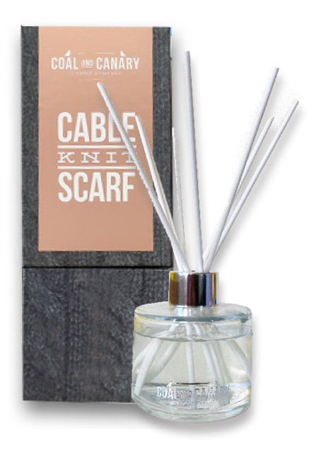 Cable Knit Scarf - reed diffuser