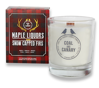 Maple Liquors & Snow Capped Firs candle