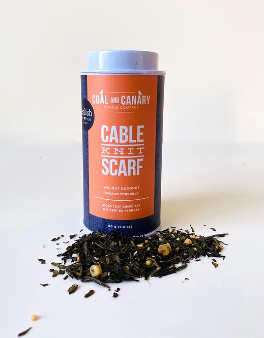 Cable Knit Scarf Tealish Tea