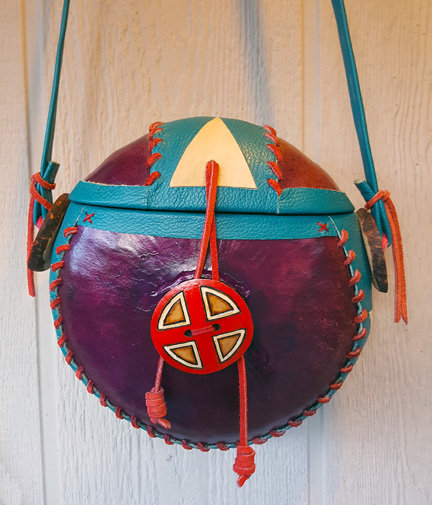 """The Morado"" Purple Gourd Purse"
