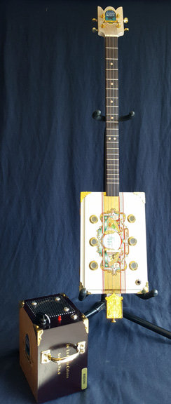 The Garcia Cigar Box Slide Guitar and Cubana Amp Model #005