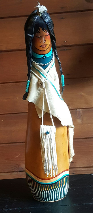 Native American Gourd Doll - Front