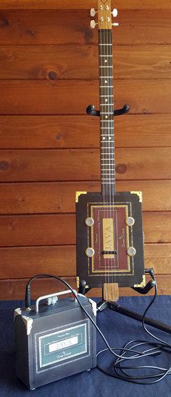 JAVA Cigar Box Guitar and Amp #006