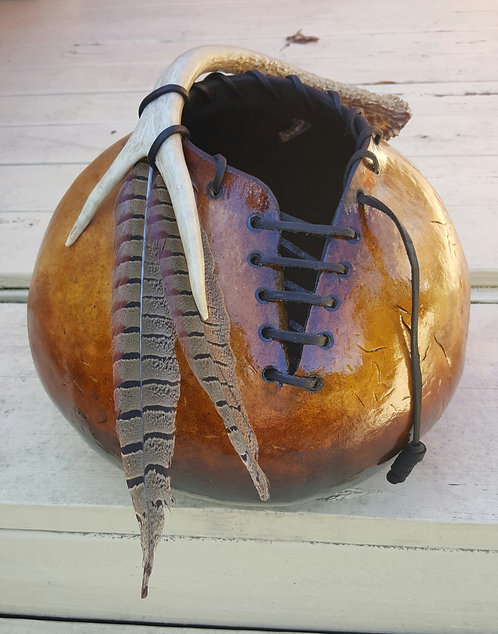 """44"""" Laced Bowl Gourd"""