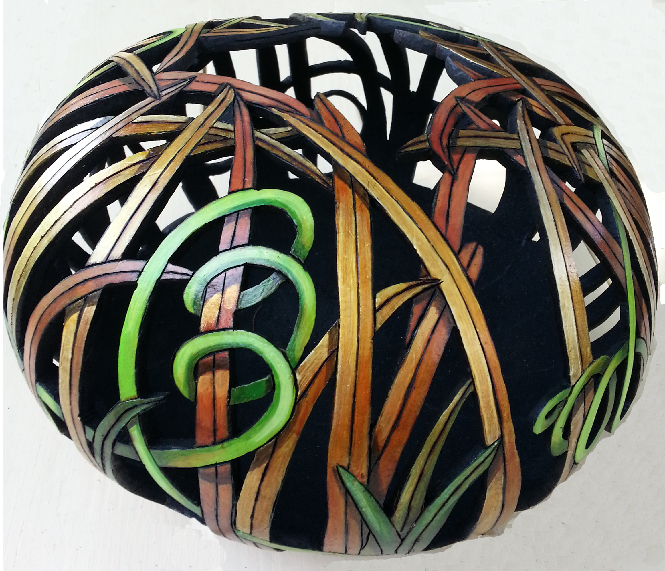 Carved Gourd Nest