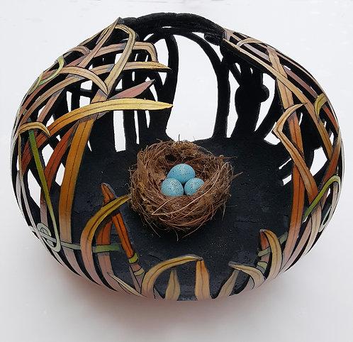 "43"" Gourd Nest With Eggs"
