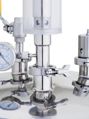 Pressure gauge and safety valve