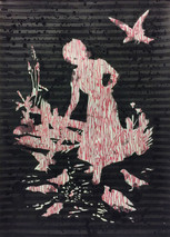 o.T. Mischtechnik auf Papier 70 x 50 cm 2018