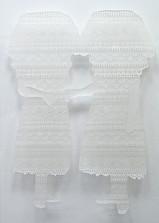 SPREEWALD TWINS Scherenschnitt Papier und Epoxidharz ca. 160 x 120 cm 2020