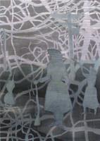 o.T. Mischtechnik auf Papier Papier auf Holz 2010