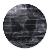 MOONSHINE Mischtechnik  Papier auf Holz 30 cm Durchmesser 2019