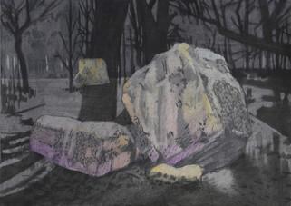 STONES Mischtechnik auf Papier 42 x 29,7 cm 2013