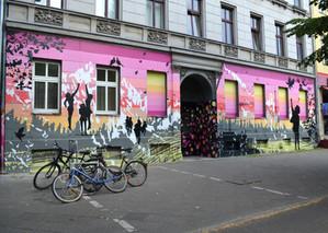 WANDBILD Skalitzer Straße, Berlin Sprühlack auf Putz ca. 5 x 16 cm  2015