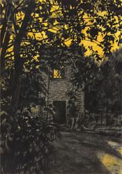 WUHLHEIDE Kohle und Aquarell auf Papier 42 x 29,7 cm 2019
