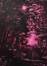 WEG Kohle, Kreide und Aquarell auf Papier 42 x 29,7 cm 2016