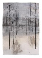 WALDFRIEDEN Mischtechnik auf Papier 200 x 140 cm 2007