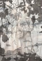 JOURNEY Mischtechnik Papier auf Holz 100 x 70 cm 2009