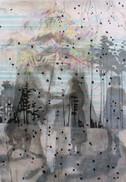 HALLOW Mischtechnik auf Papier 150 x 110 cm 2010