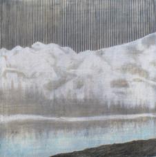 MOUNTAIN HIGH Mischtechnik Papier auf Holz 30 x 30 cm 2009