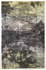 YESTERYEAR Aquarell und Zeichenkohle auf Papier 160 x 110 cm 2021