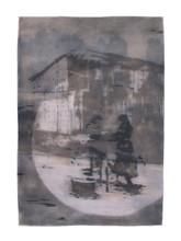 SISTER MOON Mischtechnik auf Papier 200 x 140 cm 2007