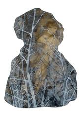HEAD Mischtechnik Papier auf Holz ca. 30 x 21 cm 2009