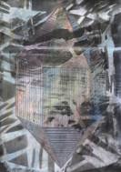 GLISTEN Mischtechnik  Papier auf Holz 42 x 29,7 cm 2020