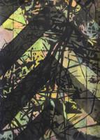 RICHTUNG Mischtechnik auf Papier 70 x 50 cm 2014