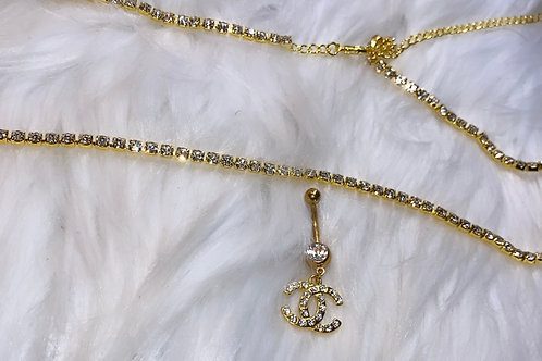 Gold coco belly ring