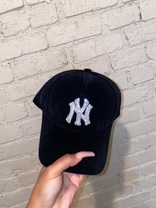 Rhinestone Yankees Hat