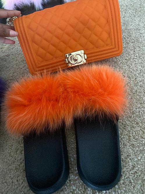 Orange fur slides (ships next business day)