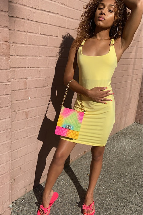 Yellow bands Dress
