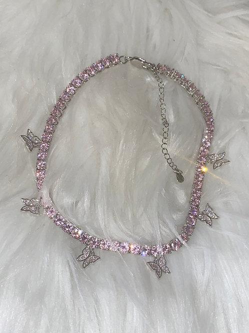Pink tennis Chain