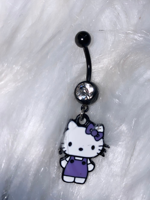 Hello kitty belly ring