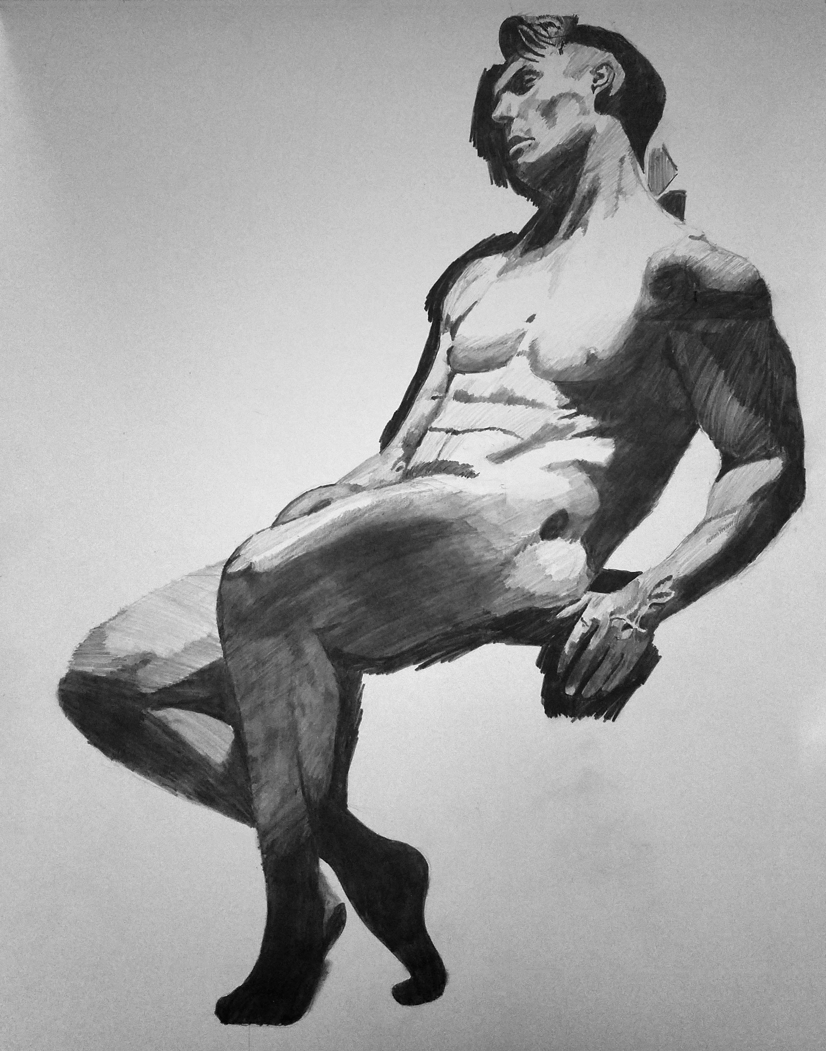Muscular man sitting Graphite2.png