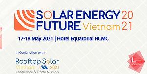 Solar Energy Future Vietnam 2021 banner.