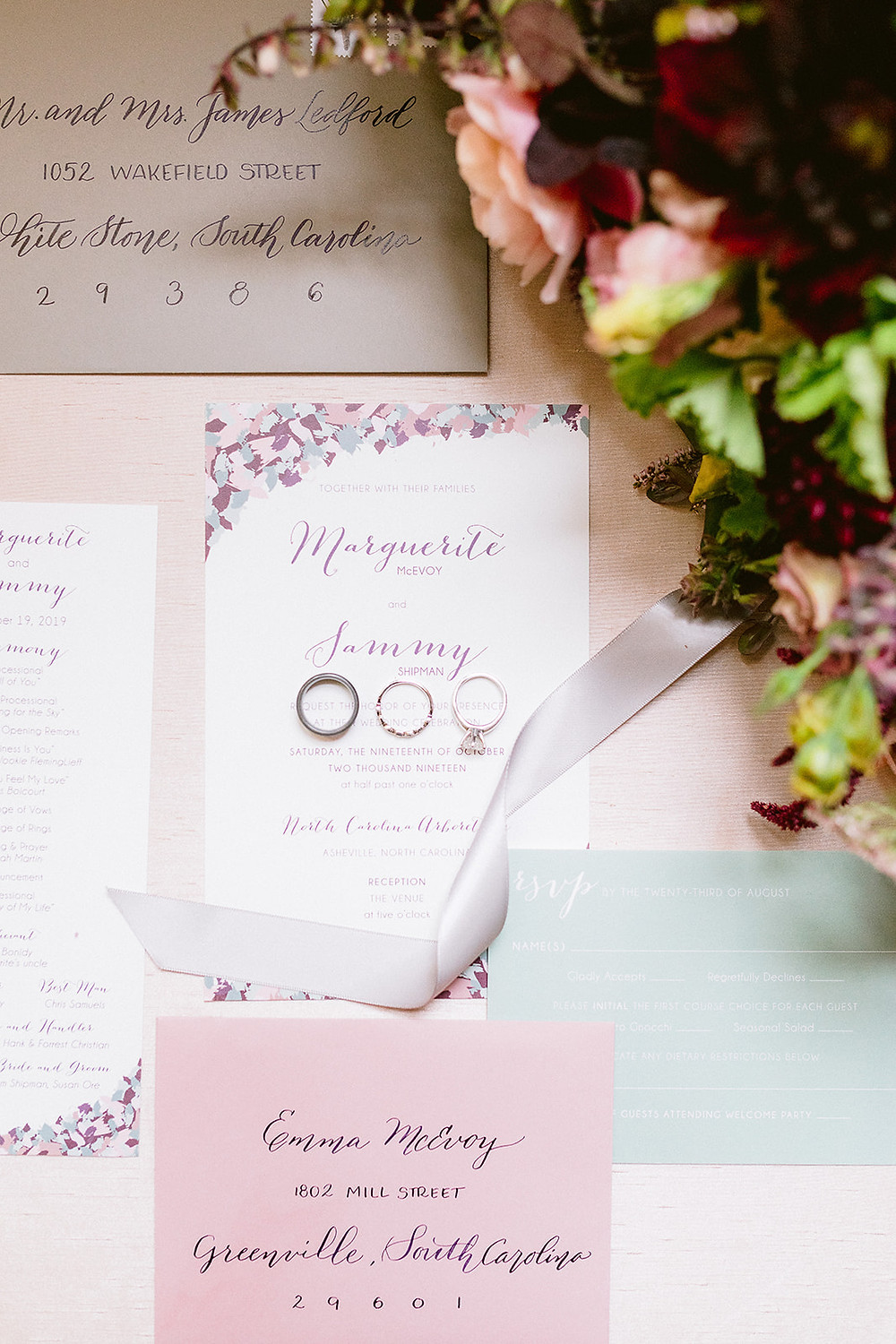 Every detail matters. Destination Wedding in Asheville, North Carolina. Moody Color Palate for Fall Wedding.
