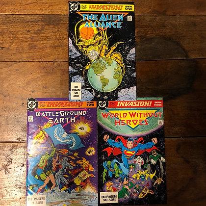Invasion! books #1-3 DC comics lot 1988